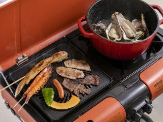 【BBQ】牡蠣とお肉セットのランチ
