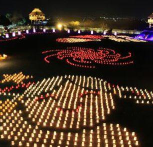 ライトアップイベント「吉野ヶ里 光の響」~5,000個のキャンドルによる地上絵~イメージ